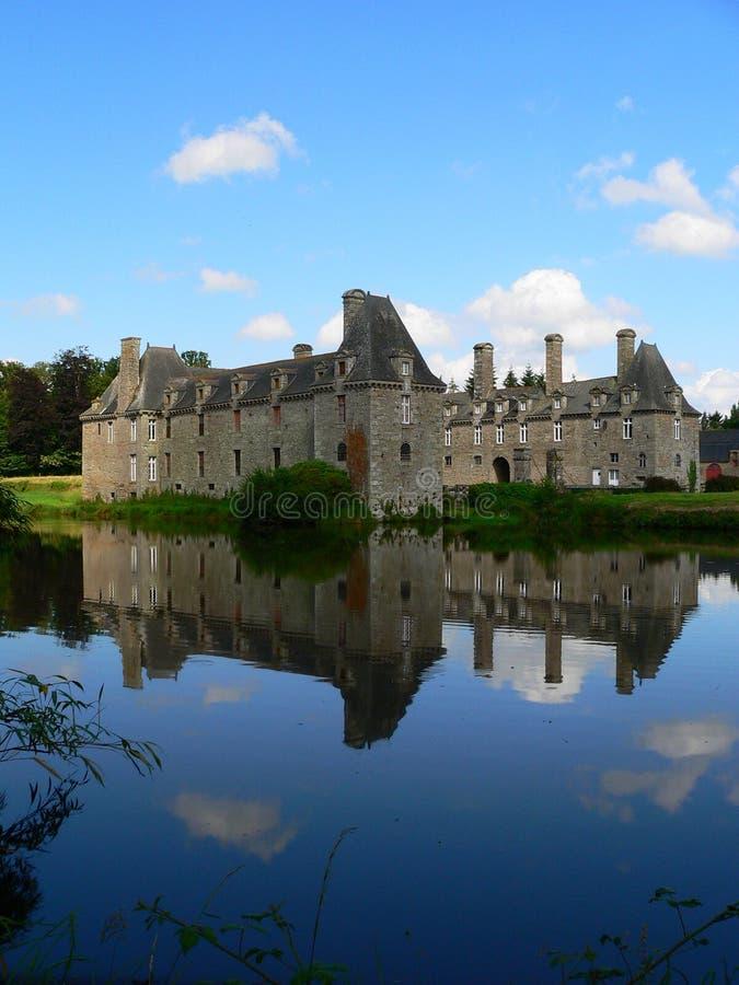 Chateau du Rocher-Portail, San-Brice-en-Cogles immagine stock