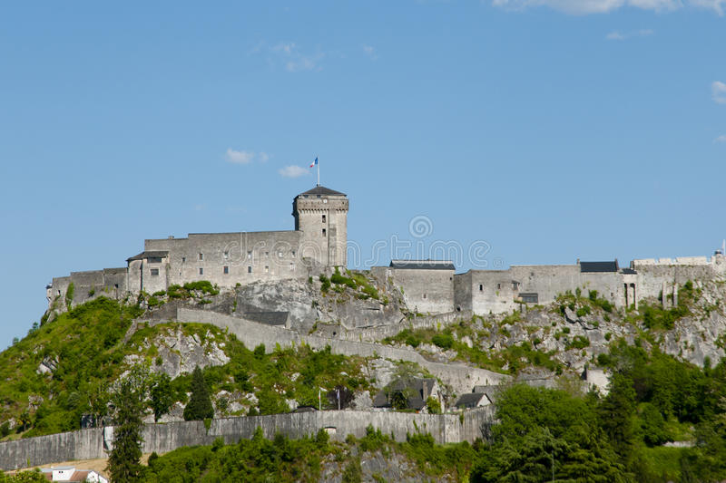 Chateau Fort of Lourdes - France stock photo