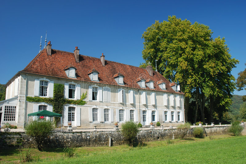 chateau france royaltyfri fotografi