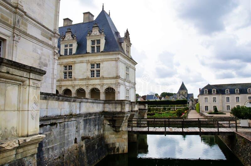 chateau france villandry Loire Valley arkivbild