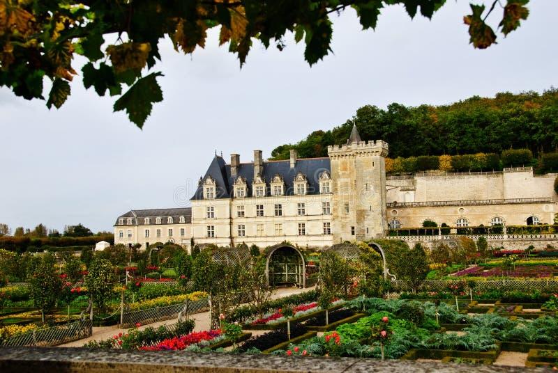 chateau france villandry Loire Valley royaltyfria foton