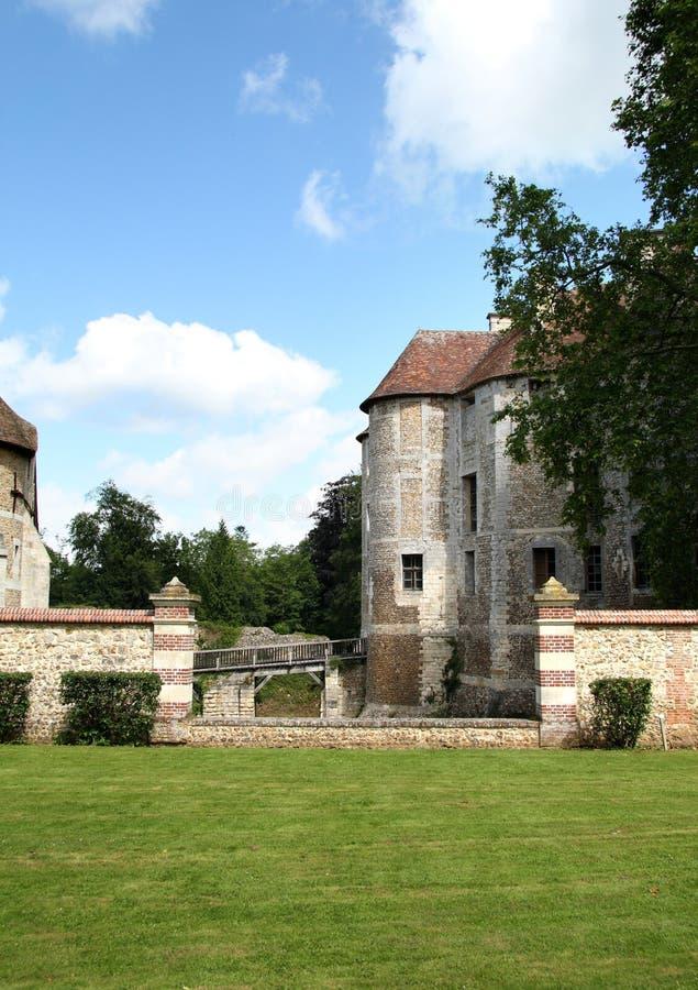 Chateau francese immagini stock
