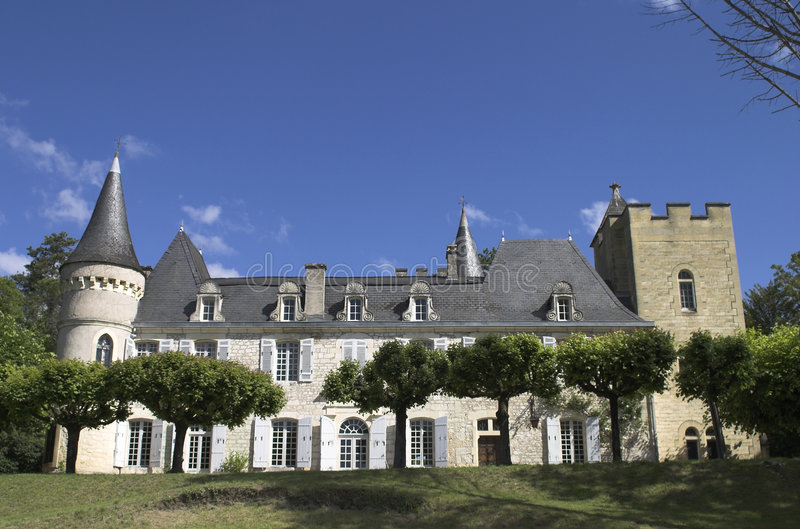 Chateau in Francia immagine stock