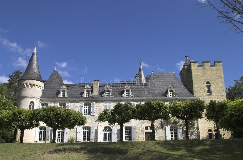 Chateau in Frankreich stockbild