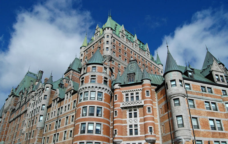Chateau Frontenac stock photo