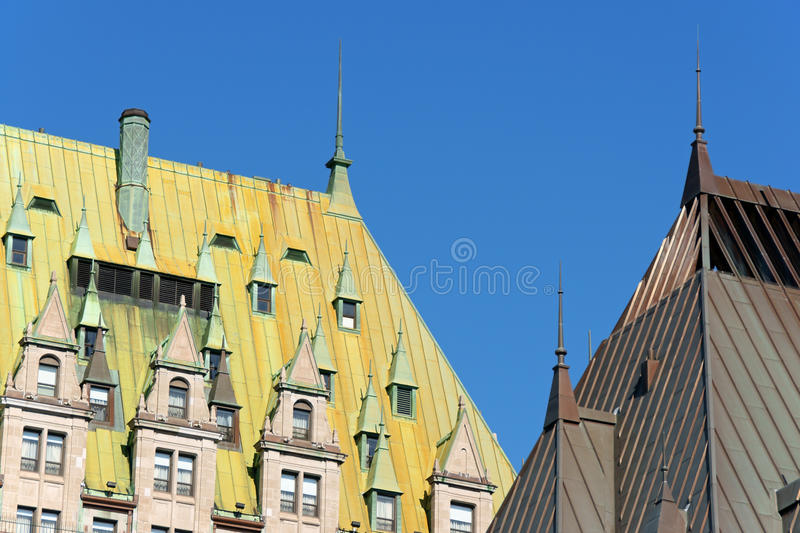 Chateau Frontenac detail stock images