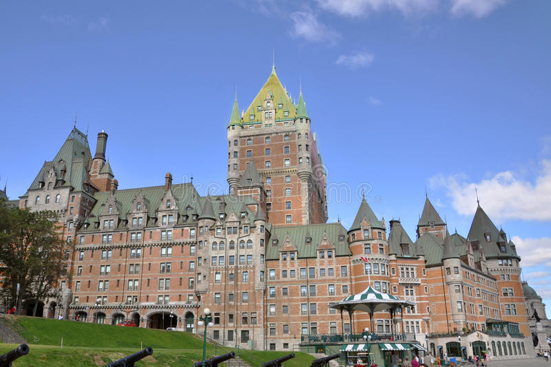 Chateau Frontenac, Quebec City, Canada. Chateau Frontenac, dominate the skyline of Quebec City, a French-style castle hotel builded in 1893, landmark of Quebec royalty free stock images