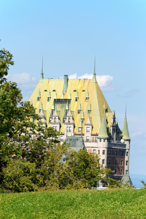 Chateau Frontenac Hotel in Quebec City, Canada royalty free stock photos