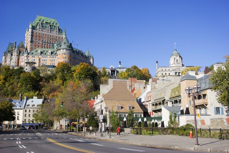 Chateau Frontenac im Herbst, Québec-Stadt lizenzfreie stockfotografie