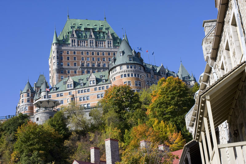 Chateau Frontenac im Herbst, Québec-Stadt stockfoto
