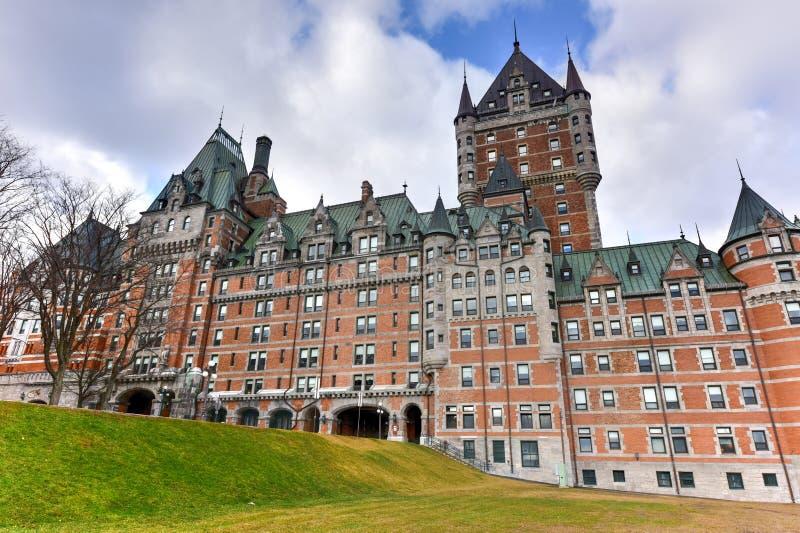 Chateau Frontenac - Québec-Stadt, Kanada lizenzfreies stockfoto