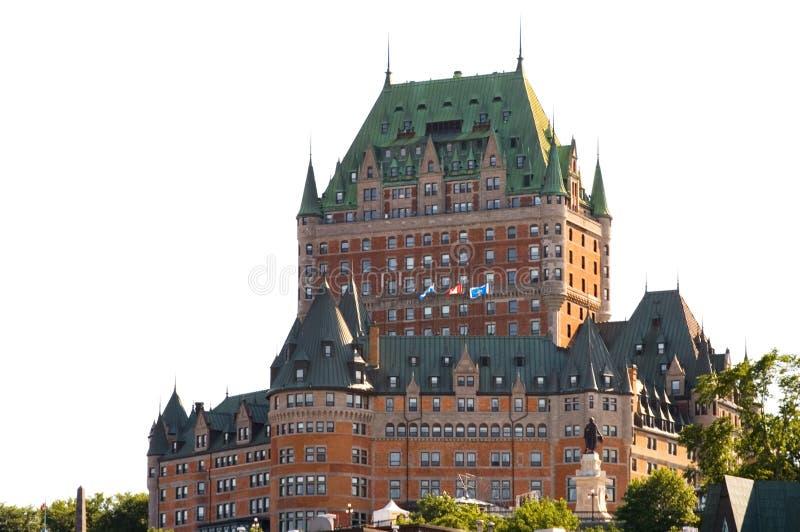 Chateau Frontenac in Quebec lizenzfreies stockbild