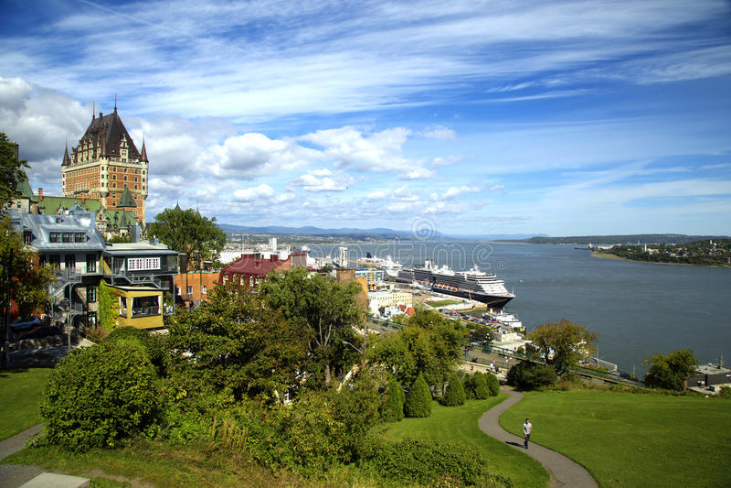 Chateau Frontenac in Quebec stockbild