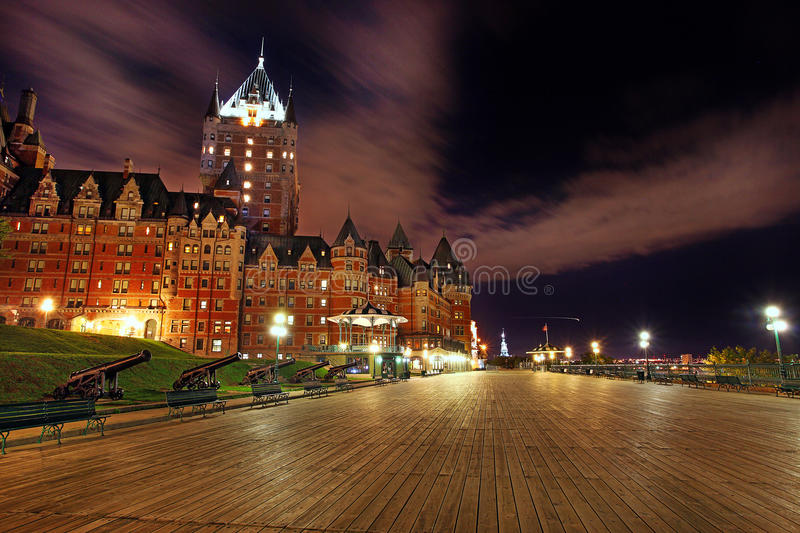 Chateau Frontenac in Quebec - Canada. Chateau Frontenac, one of the most popular historical attractions in Quebec City, Quebec, Canada. It was opened in 1893 stock image