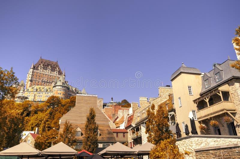 Chateau Frontenac in Quebec City, Kanada stockbild