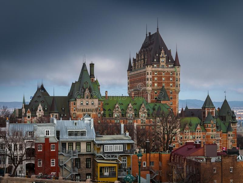 Chateau Frontenac in Quebec City, Kanada lizenzfreie stockfotografie