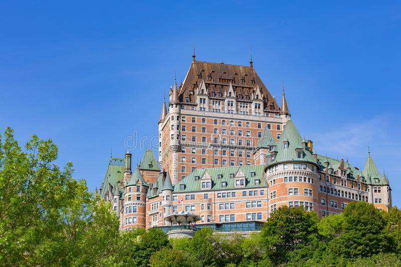 Chateau Frontenac in Quebec royalty free stock images