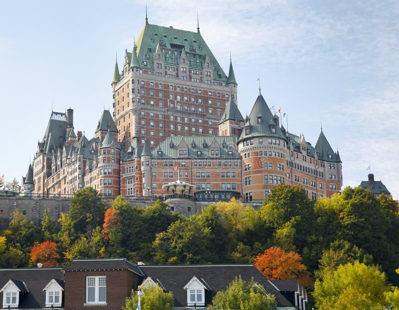 Chateau Frontenacin-Herbst, Québec-Stadt lizenzfreie stockfotos