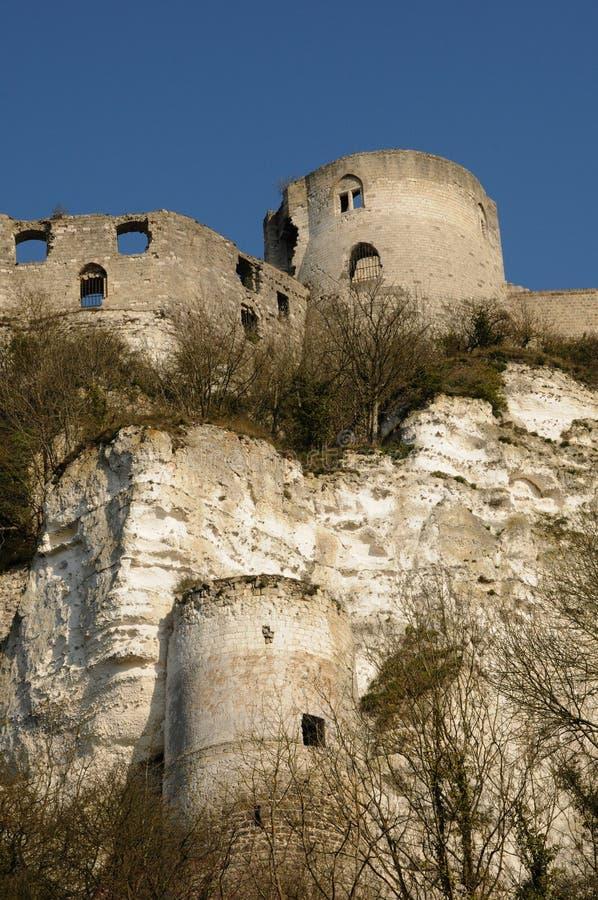 Download Chateau Gaillard stock image. Image of keep, battlements - 20633247