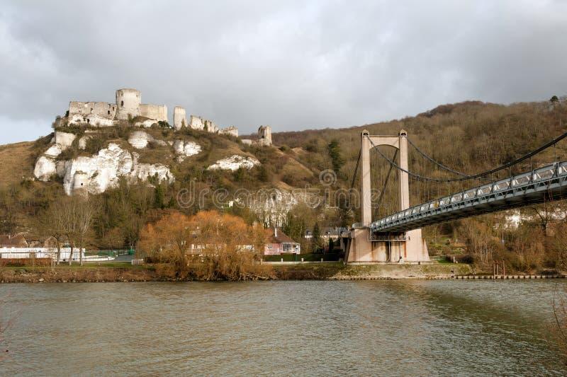 Chateau Gaillard och flod Seine royaltyfri foto
