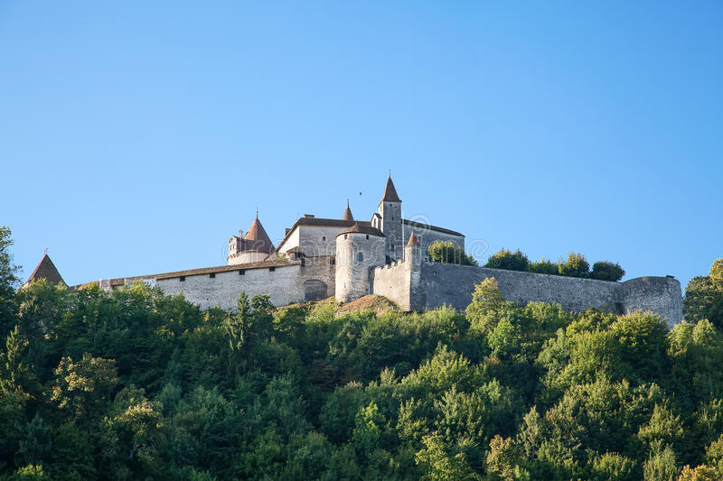 Chateau Gruyere. Famous castle Gruyere in canton Fribourg, Switzerland royalty free stock images