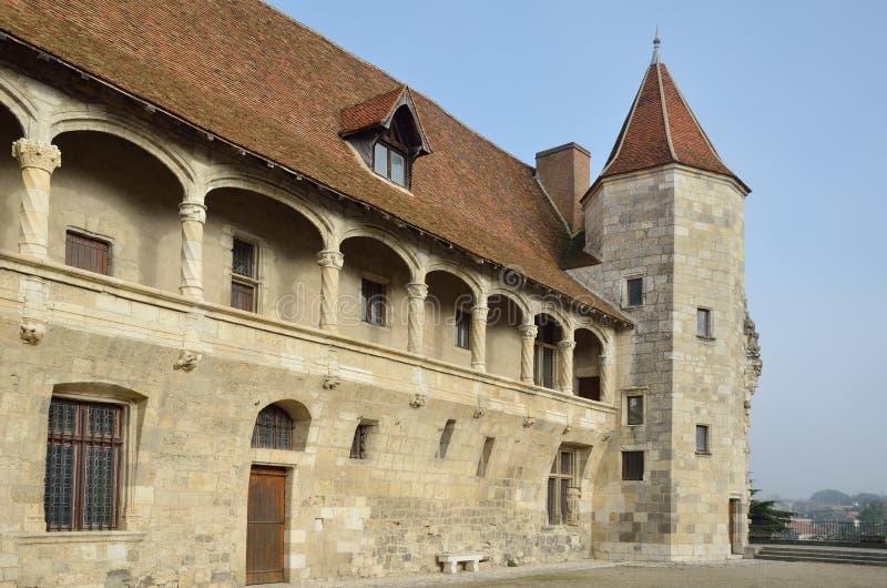 Chateau Henry IV in Nerac royalty-vrije stock afbeeldingen