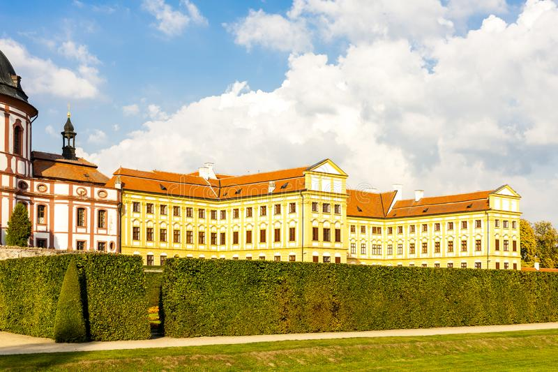 Chateau Jaromerice nad Rokytnou, Tschechische Republik stockbild
