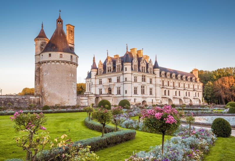 Chateau (kasteel) DE Chenonceau, Frankrijk royalty-vrije stock afbeeldingen
