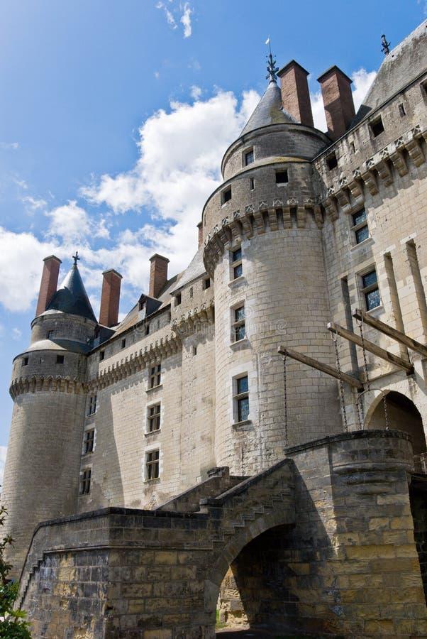 Chateau Langeais Eingang stockbild