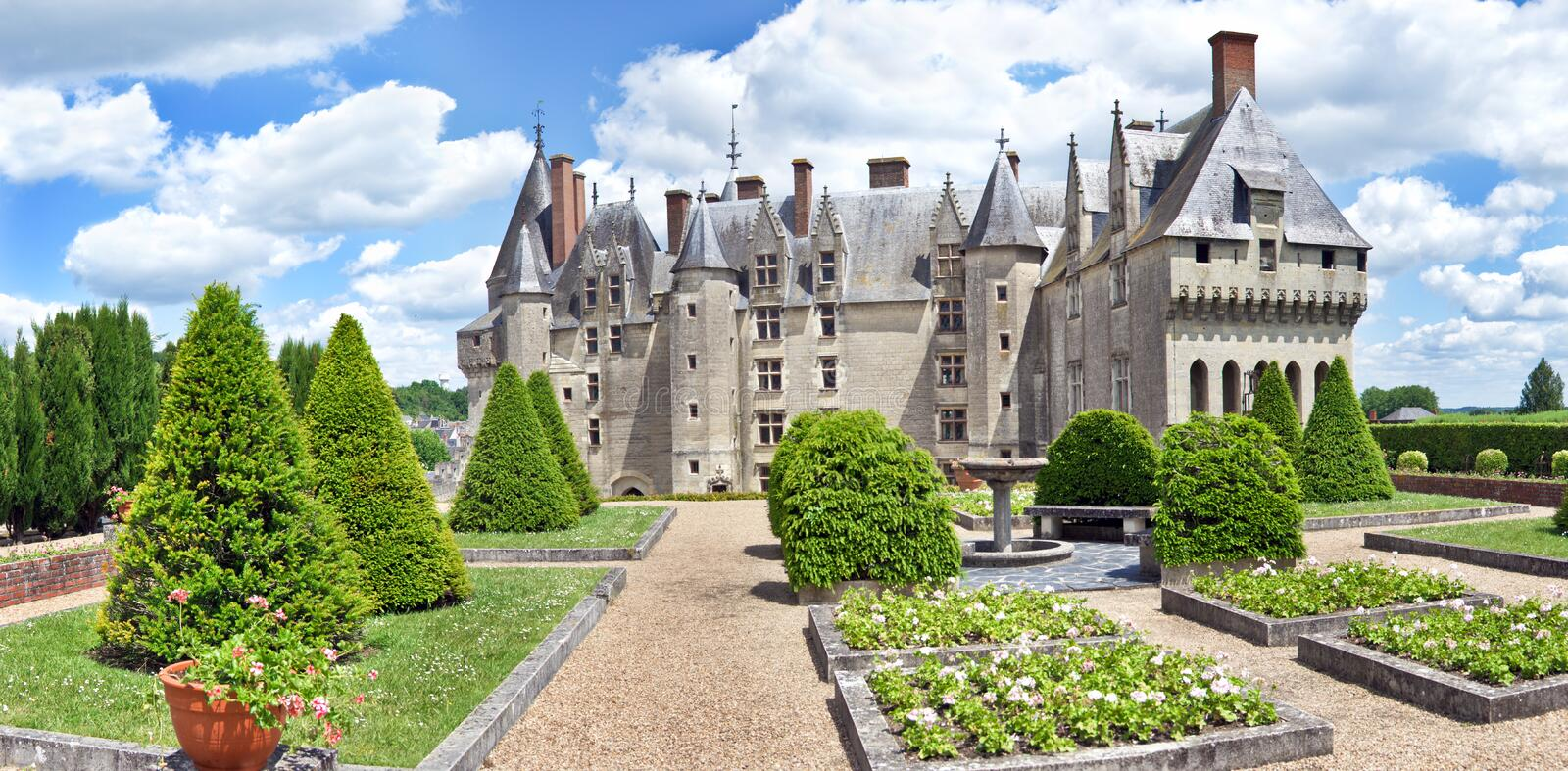 Chateau Langeais Garden royalty free stock images