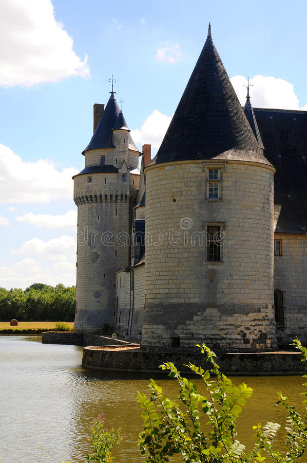 Chateau Le Plessis Bourre. France stock image