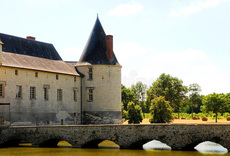 Chateau Le Plessis Bourre. France royalty free stock photography