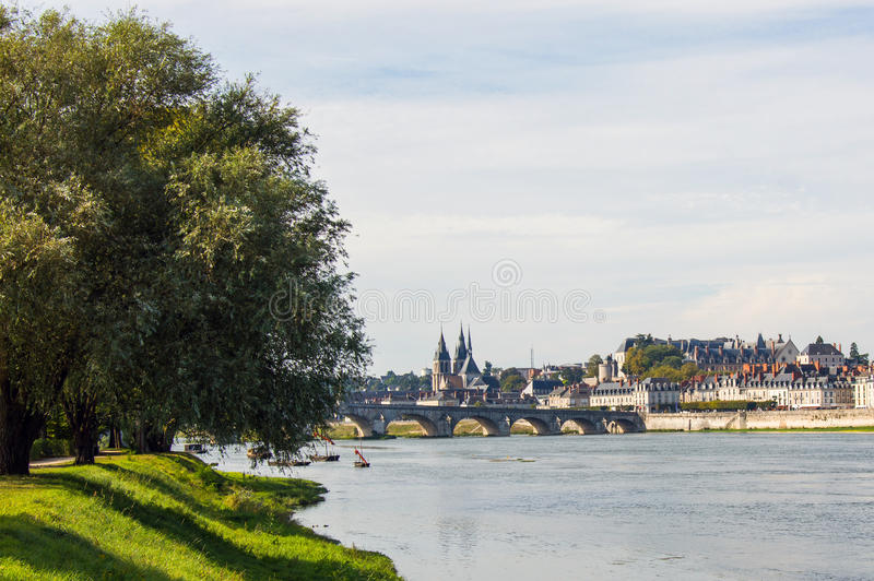 Chateau of the Loire Valley. France. Bridge Jacques Gabriel in Blois. Chateau of the Loire Valley. France royalty free stock photography