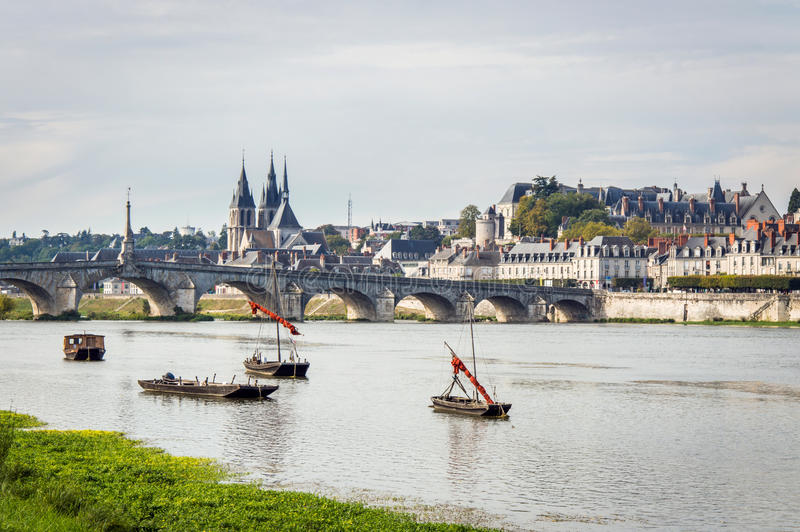 Chateau of the Loire Valley. France. Bridge Jacques Gabriel in Blois. Chateau of the Loire Valley. France royalty free stock images