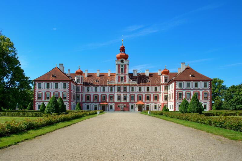 Chateau Mnichovo Hradiste royalty free stock photo