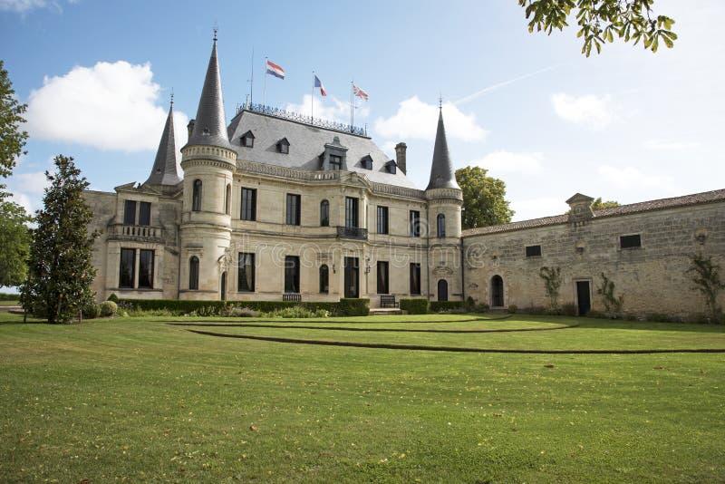 Chateau Palmer Margaux France arkivbild