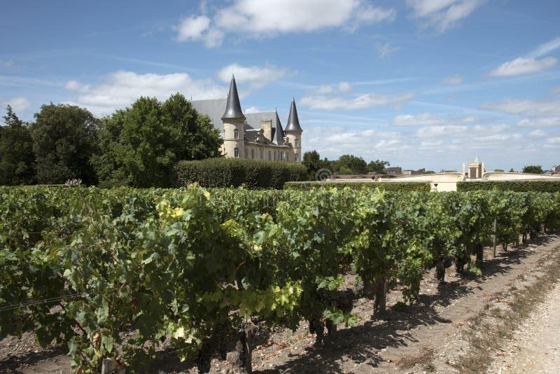 Chateau Pichon Longueville Baron at Pauillac France stock photography