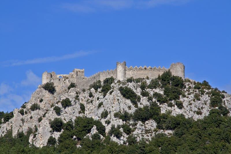 chateau puilaurens stock afbeeldingen