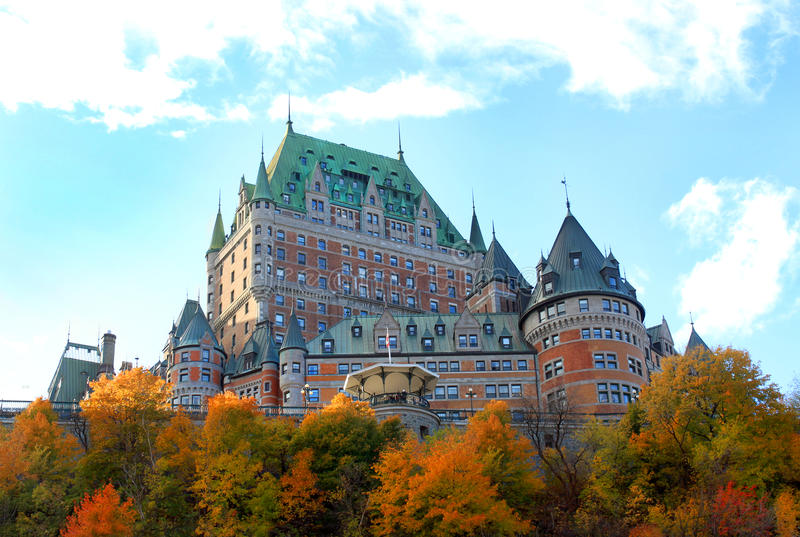 Chateau in Quebec City, Kanada lizenzfreies stockbild