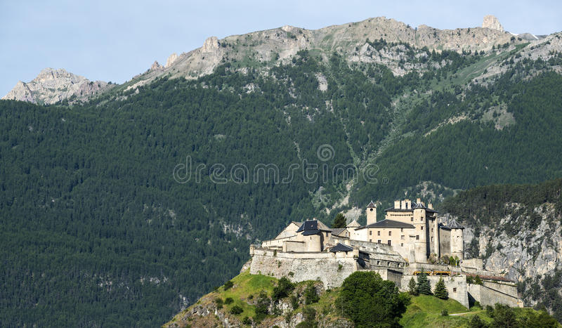 Download Chateau-Queyras stock image. Image of photography, french - 33457389