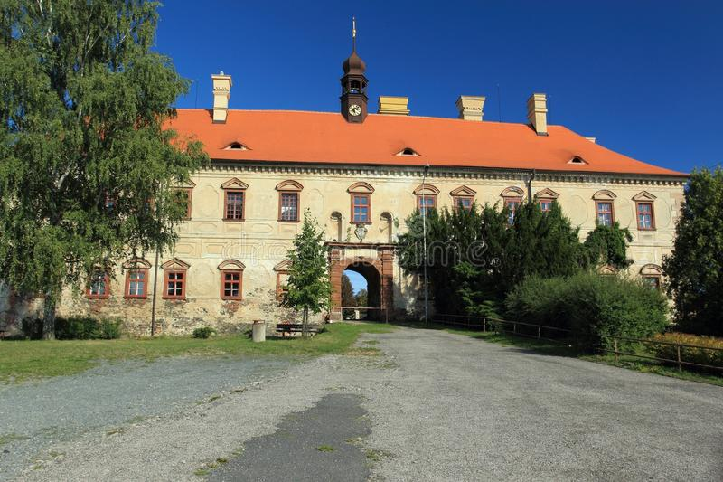Chateau Rataje nad Sazavou lizenzfreies stockbild