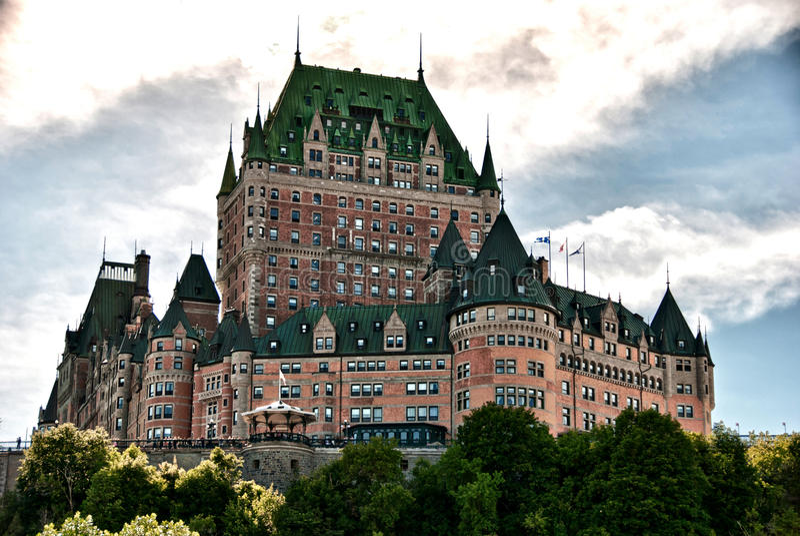 chateau stad de frontenac majestät quebec arkivbilder