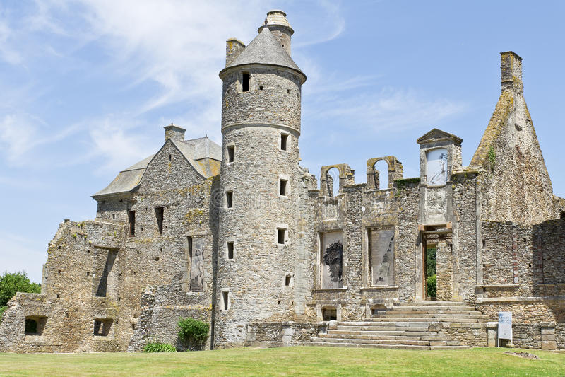 Chateau storico in Normandia Francia fotografie stock libere da diritti