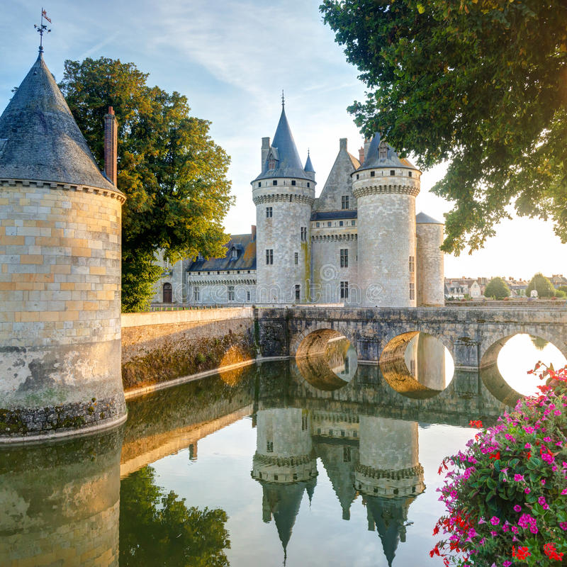 The chateau of Sully-sur-Loire, France royalty free stock photo