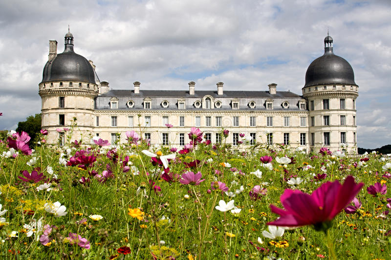 Chateau Valencay stock photo