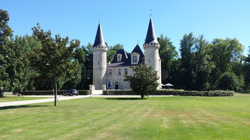 Chateau van Bordeaux royalty-vrije stock afbeeldingen
