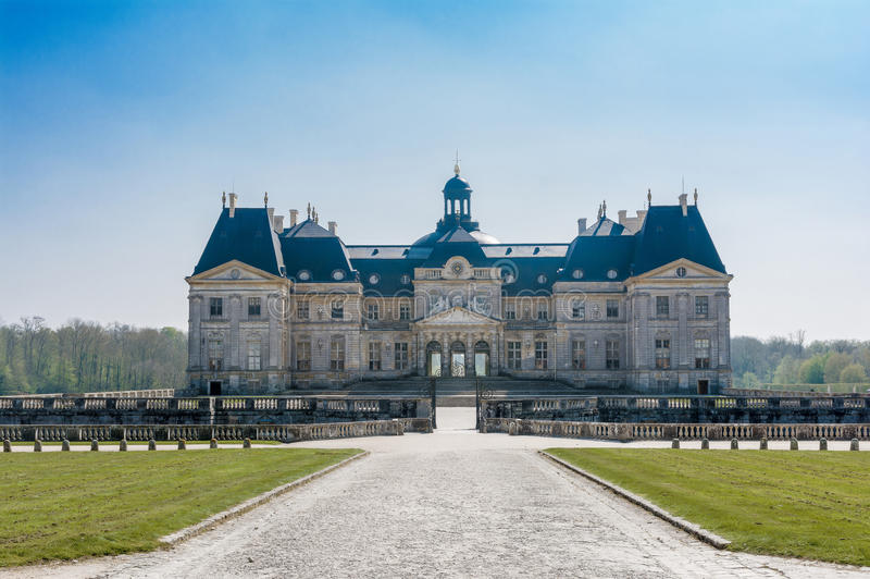 Chateau of Vaux le Vicomte stock image