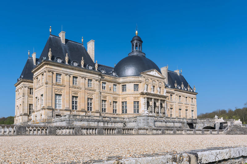 Chateau of Vaux le Vicomte. South Facade of the Castle of Vaux le Vicomte in France royalty free stock photos