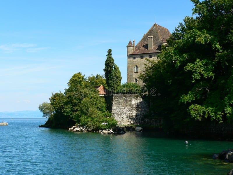 Chateau, Yvoire (Frankrijk) stock foto
