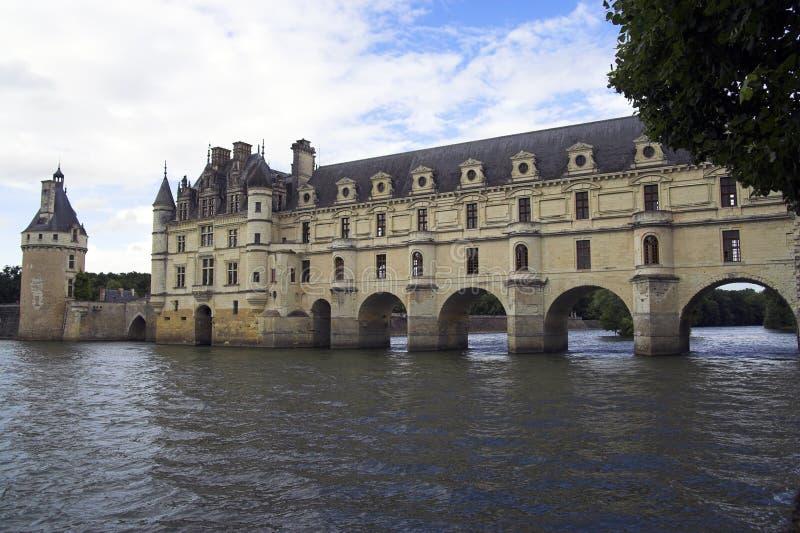 chateauchenonceau de france royaltyfria bilder